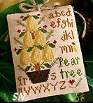 #2 Pear Tree Ornament of the Month from Little House Needleworks - click for more