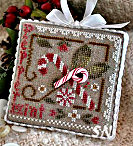 2010 Ornament #9 Peppermint Twist from Little House Needleworks - click for more