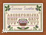 Summer Sampler by Little House Needleworks and Crescent Colours -- click to see more