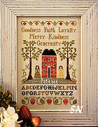 Virtue Sampler from Little House Needleworks - click for more