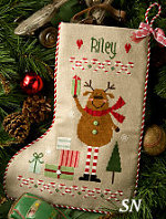 Lizzie Kate's Reindeer Stocking #169