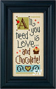 All We Need is Love and Chocolate Giggle Boxer from Lizzie*Kate - click for more
