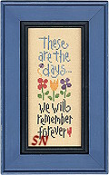 These Are The Days from Lizzie*Kate -- click to see more neat needlework novels