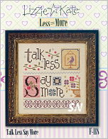 F118 Talk Less Say More from Lizzie*Kate - click for more