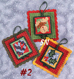 PN008 Holiday Hang-Ups No 2 in Punch Needle from Lizzie Kate -- click to see more!