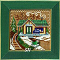 Mill Hill 2006 Buttons & Beads Christmas Village MH14-6304 Train Depot Kit -- click for more