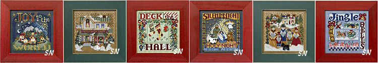 The Christmas Needlework Shop and Holiday Carols! from Mill Hill - click to see more