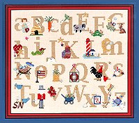Folk Art Alphabet from Folk Art America -- click for a larger view