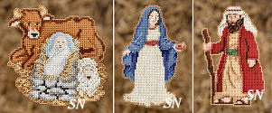 Christmas 2012 Nativity Trilogy Mini-Ornament Kits from Mill Hill - click for more