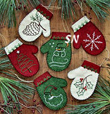 Mittens Felt Ornament Kit from Rachels of Greenfield - click to see more