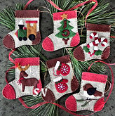 Warm Feet Felt Ornament Kit from Rachels of Greenfield - click to see more