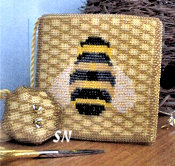 Beehive Needlebook and Fob from The Constant Stitcher - click to see more