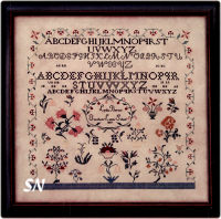Lydia Borton 1819 from Queenstown Samplers - click to see more