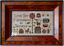 Love Thy Neighbor from Plum Street Samplers - click for more