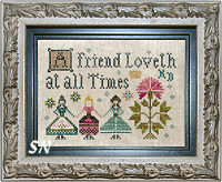 A Friend Loveth from Plum Street Samplers - click for more