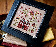 A Red Cottage from Plum Street Samplers - click for more