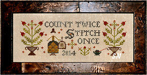 Count Twice, Stitch Once! from Plum Street Samplers - click for more