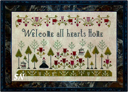 Welcome All Hearts Home from Plum Street Samplers - click for more