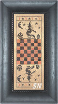 Hallow Game Board from The Primitive Needle -- click to see more