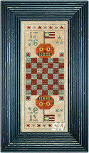Patriotic Jack Game Board from The Primitive Needle -- click to see more