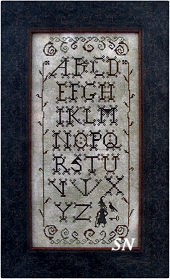 Wicked Alphabet from The Primitive Needle - click to see more