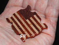 Wooden Flag Threadkeep from Priscilla's Pocket