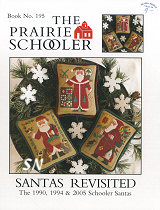 Prairie Schooler's #195 Santas Revisited -- click to see more