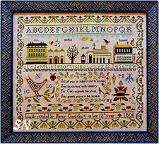 Mercy Goodehart's Sampler from Shakespeare's Peddler and Little House Needleworks - click to see more