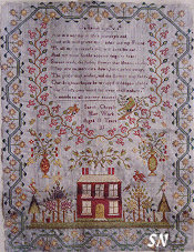 Sarah Chapple 1831 from Shakespeare's Peddler and Little House Needleworks - click to see more