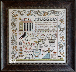 The Sweet Temper Sampler from Shakespeare's Peddler and Little House Needleworks - click to see more