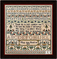 Mary Ann Read and the Injured Lion Sampler from Noteworthy Needle - click for more