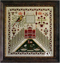 Elizabeth Lamb 1837 from Samplers Not Forgotten - click to see more