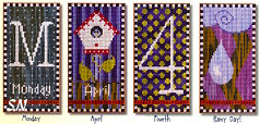 April Set - Fun Every Day: A Perpetual Calendar - set 1 from SamSarah Design Studio - click for more
