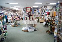 The view into the shop from the west door - click to see more
