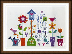 Pretty Garden Sampler from The Stitching Shed -- click to see a larger view