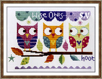 Three Owls from The Stitching Shed -- click to see a larger view