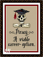 Post Stitches Piracy Graduation from Sue Hillis -- click to see more