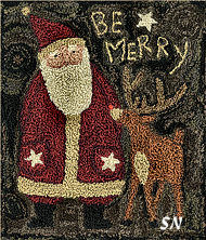 Be Merry Punch Needle from Teresa Kogut -- click to see a larger view