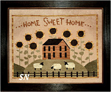 Sunflower House in cross stitch from Teresa Kogut -- click to see more