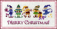 The Elves Christmas CROSS STITCH from Teresa Layman -- click to see more