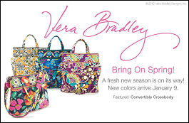 New Winter 2013 colors from Vera Bradley