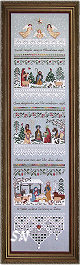Heirloom Nativity Sampler from The Victoria Sampler -- click to see a larger view