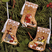 Gingerbread Mini Stockings from The Victoria Sampler - click for more