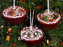 Beautiful Finishing 17 - Gingerbread Cupcakes from The Victoria Sampler - click for more